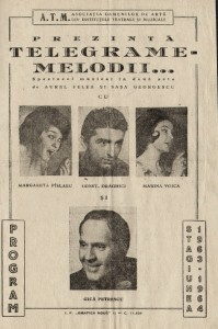 Margareta Paslaru - cronica si program spectacol 'Telegrame melodii'