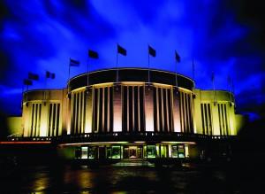Cazinoul de la Knokke (Belgia), fotografiat noaptea