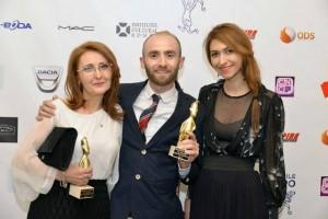 Carmen Anton, Tom Wilson şi Alexa Juvina la Premiile Gopo 2014